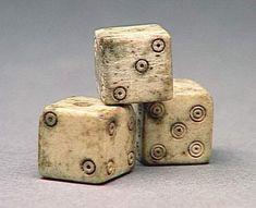 Dice. Roman, 1st century AD. Musée Condé