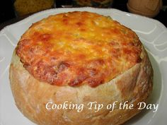 Cooking Tip of the Day: Cheesy Baked Bread Dip