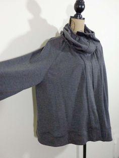 Connies Moonlight jacket lagenlook top gray artsy quirky artist boxy sz OS #ConniesMoonlight #BasiJacket