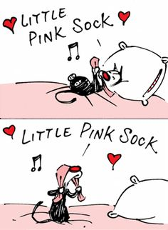 Mooch loves his little pink sock and I love Mooch...
