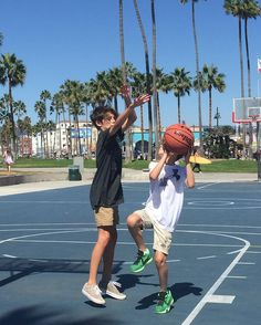 """William Franklyn-Miller (@william.franklyn.miller) """"Playing one on one with my little bro """""""