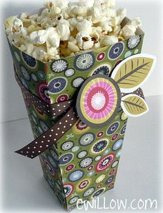 Girls' Night Out Popcorn Box Template and Tutorial