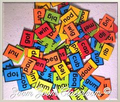FREE! 100 CVC words for the 100th day of school. Use them to make sentences, sort them, or write them.