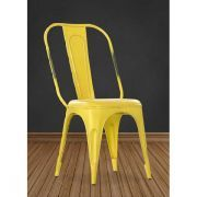 Yellow Retro Cafe Side Chair