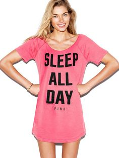 Sleep #Shirt by Pink - Found on HeartThis.com @HeartThis | See item http://www.heartthis.com/product/246111939854622745?cid=pinterest