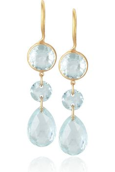 Marie-Helene de Taillac aquamarine earrings