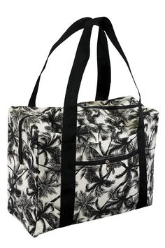 Carry On with Trolley Strap Cotton Canvas Printed Bag