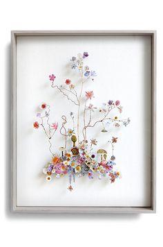 Flower construction #72 (w:40 h:50 d:5.5 cm)