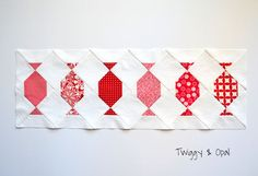 Fort Worth Fabric Studio: Peppermint Twist Table Runner