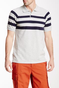 Vince | Pique Striped Short Sleeve Polo | Nordstrom Rack