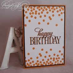 Angela Lorenz CMCC#92 Stampin Up, Happy Birthday Everyone, Dotty Angles, Monochromatic, #CMCC92 #stampinup
