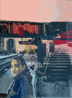 Le territoire des sens: Tim Marrs Collage Illustration, Book Cover Art, Gcse Art Sketchbook, Printmaking, Fine Art, Poster Prints, Digital Illustration, Cyberpunk Art, Graphic Art