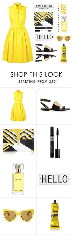 """Yellow shirt dress.."" by gul07 ❤ liked on Polyvore featuring Karen Millen, See by Chloé, Angel Jackson, Estée Lauder, Rosanna, Linda Farrow and Aesop"