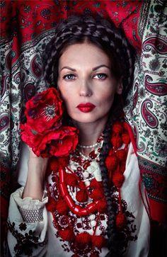 Ukraine, from Iryna Russian Beauty, Russian Fashion, Russian Red, Bella Beauty, Ukraine Women, Ukrainian Art, Folk Fashion, Folk Costume, Costumes