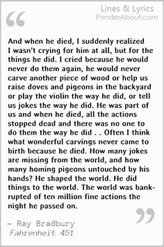 Fahrenheit 451 Quotes Ray Bradbury Quote  Inspire Me  Pinterest  Ray Bradbury Quotes .