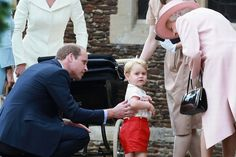 Prince William, Prince George and Queen Elizabeth II