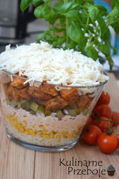 Selerowy Gyros Salad Recipes, Curry, Food And Drink, Cheese, Chicken, Impreza, Apple, Drinks, Gastronomia