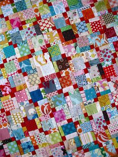{ scrap quilt } by { philistine made }, via Flickr