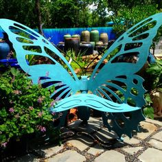 Garden Deco, Garden Art, Garden Design, Garden Chairs, Garden Furniture,  Hummingbird Garden, Butterfly Chair, Enchanted Garden, Dream Garden