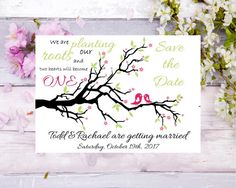 Check out this item in my Etsy shop https://www.etsy.com/listing/504523104/save-the-date-invitation-whimsical