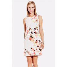 {Vince Camuto} 'Broken Photo' Floral Print Dress