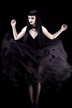 Model, MUAH: Obsidian Kerttu Outfit: Aglasis Couture Photo: Marko Stamatovic Studio / Atelje Stamatovic Welcome to Gothic and Amazing |www.gothicandamazing.org