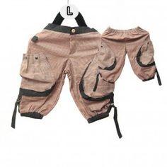 Pantalones de harén para niños - patrón de algodón/Tartan