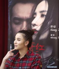 Chinese actress Song Jia meets with fans during the 9th Chinese-American Film Festival in Los Angeles, California, November 2, 2013. The 9th Chinese-American Film Festival kicked off on Saturday