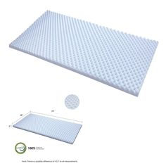 Queen size soft gel HD foam anti-allergy health care pad bed topper mattress new #PerfectAllinaceLad
