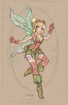 Tinkerbelle Sketch by NoFlutter.deviantart.com on @DeviantArt