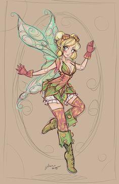 Tinkerbelle+Sketch+by+NoFlutter.deviantart.com+on+@DeviantArt
