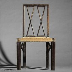Christian Witt-Doerring, curator at the Neue Galerie, NY, writes: This dining-room chair was designed by Josef Hoffmann in 1913 in the course of a complete Modern Chairs, Modern Furniture, Furniture Design, Craftsman Interior, Vienna Secession, Art Deco Design, Interior Design Inspiration, Designer, Art Decor