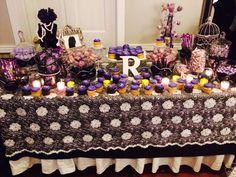 Masquerade dessert table