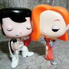 E tá pintando um clima e rolando um dueto aqui! Rs... Elvis Presley e Jessica Rabbit ♥