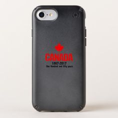 Happy CANADA 150 Years  Canadian Flag Cool Speck iPhone Case