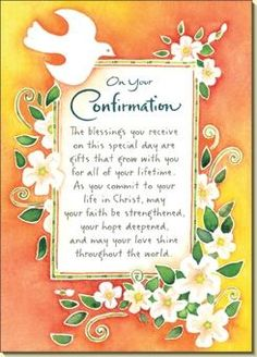 Confirmation Blessings Confirmation Prayer Religious