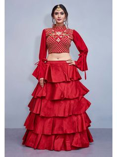 Shop for latest party wear lehenga online only at sareeswholesale. Party wear lehenga is the must-have of the season and we at sareeswholesale can give you the best rate Lehenga Choli Designs, Bridal Lehenga Choli, Choli Dress, Kids Lehenga Choli, Bollywood Lehenga, Lehenga Blouse, Frill Dress, Saree, Peplum
