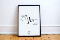 Personalised Wedding Graphic Art Print
