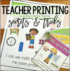 Simply Creative Teaching: Printing Posters & Mini-Posters At Home