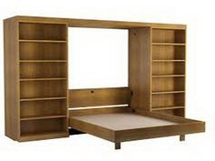 Murphy Beds With Bookcases Abbott Library Murphy Bed Wall Bed for dimensions 1000 X 900 Library Wall Murphy Bed - If you ever have a friend or relative com Murphy Bed Bookcase, Murphy Bed Frame, Build A Murphy Bed, King Bed Frame, Murphy Bed Plans, Murphy Desk, Bed Factory, Home Office, Murphy-bett Ikea