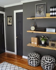 """@dearlillie on Instagram: """"Another wall in Jason's office. Please note, you can find some sources by tapping the image and you can find a very detailed source list as well as all paint color info on our blog in the most recent post as well as lots of before and after images."""""""