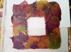 Pressed leaf frame. I needed something to do during the hurricane : )