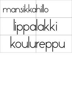 Slide14 Learn Finnish, Bingo, Math Equations, Learning, Speech Language Therapy, Studying, Teaching, Onderwijs