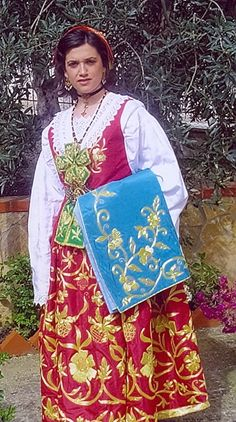 Traditional women dresses from Sicily, Italy-Piana degli Albanesi country city. This traditional dresses are connected to albanian traditions, since this particular people leads their ancestries from Albania.