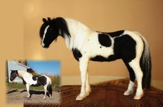 Needle felting horse, custom made horse portrait, replica figurine of your own horse one of a kind horses and foals