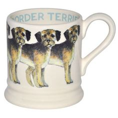 Cute Border Terrier mug by the very clever Emma Bridgewater.