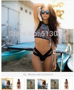 2015 Women High Waist Bikini set, Push Up Symmetrical Cut Out Swimwear Swimsuit, Brand Bikinis Hollow Out biquini Monokini http://www.aliexpress.com/store/513085