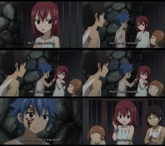 Fairy tail. I just love the story of how Erza got her last name <3