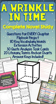 Get ready for the movie with this complete novel unit! Guide your students through the book and generate meaningful discussion with questions for ALL chapters including answer keys. Study 60 vocabulary words from the novel. Students will be challenged and engaged with the flip book project, writing prompts and reflection activities. Reinforce literary terms through games with literary terms anchor charts. Also included are the 30 Quote Analysis Task Cards! This resource is all you need!