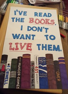 Favorite sign so far: I've Read the Books, I Don't Want to Live Them. Posted by Amy Fowler to the Boston Women's March for America Event Page on Facebook.